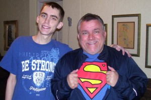 A picture of my Superman Dad and me!